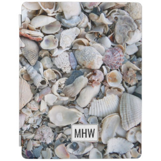 Sea Shells custom monogram device covers iPad Cover