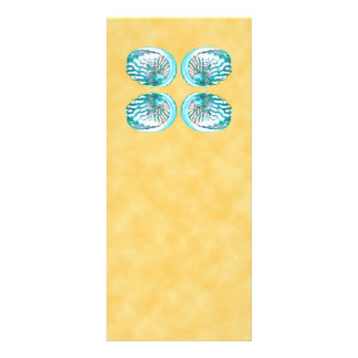 Sea Shells Design, Turquoise and Yellow. Rack Cards