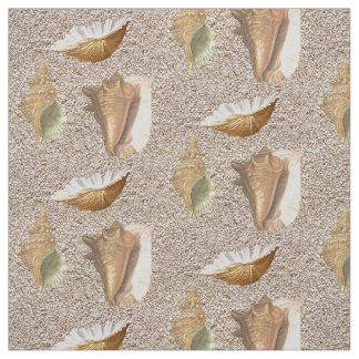 Sea Shells In Sand Fabric