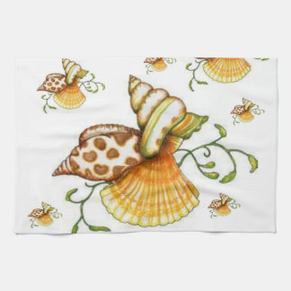 sea shells kitchen hand towels