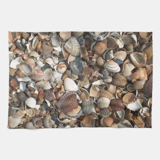 Sea shells kitchen towels