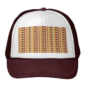 SEA SHELLS n FLOWER Decorations: ETHNIC ART Trucker Hat