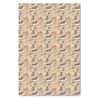 Sea Shells on Beach Sand Tissue Paper