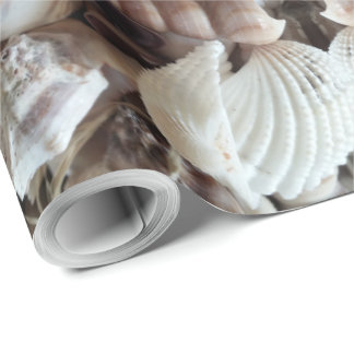 Sea Shells Photography Summer Beach Theme Elegant Wrapping Paper