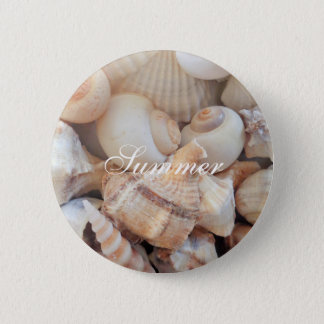Sea Shells, Summer Beach Exotic Tropical Romantic 6 Cm Round Badge