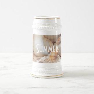 Sea Shells, Summer Beach Exotic Tropical Romantic Beer Stein