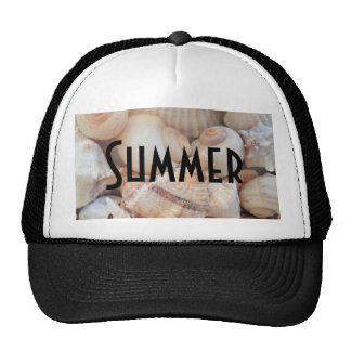 Sea Shells, Summer Beach Exotic Tropical Romantic Cap