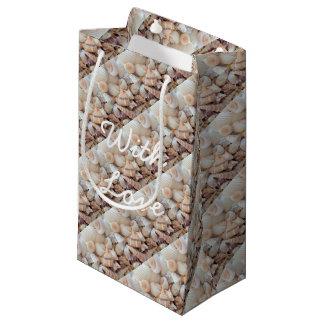 Sea Shells, Summer Beach Exotic Tropical Romantic Small Gift Bag
