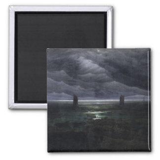Sea Shore in Moonlight, 1835-36 Square Magnet