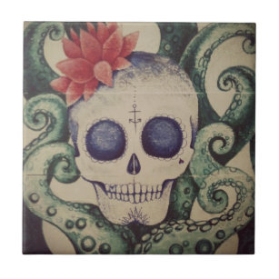 Tattoo Decorative Ceramic Tiles Zazzle Com Au