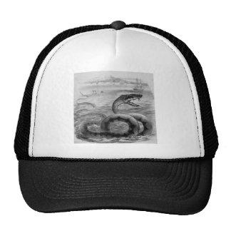 Sea Snake Serpent Trucker Hat