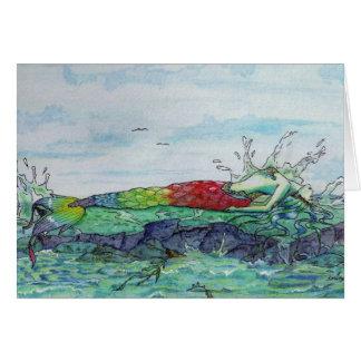 Sea Splash Mermaid Card