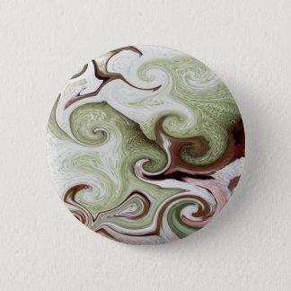 Sea Sponges Shells Seafoam Green Pink White Balls 6 Cm Round Badge
