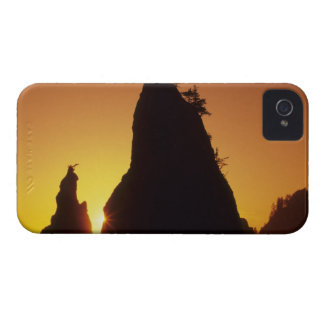 Sea stacks and reflections at sunset, Rialto iPhone 4 Covers
