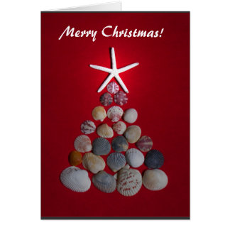 Sea Star Christmas Tree Card