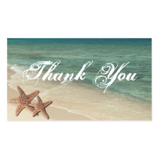 Sea Starfish Thank You Gift Tag Pack Of Standard Business Cards