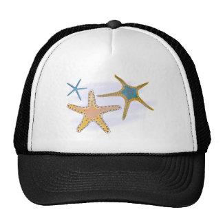 Sea-stars star fish mesh hats