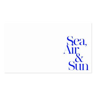 Sea sun air surf beach life mottos fun happy business card