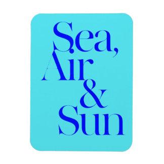 Sea sun air surf beach life mottos fun happy rectangular magnet