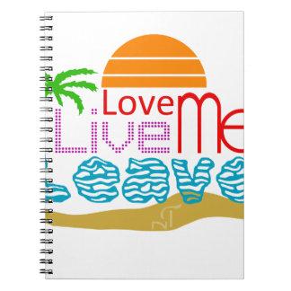 Sea sun coils notebook