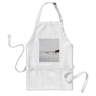 Sea Themed, Beautiful Summer Beach Scenery With Be Standard Apron
