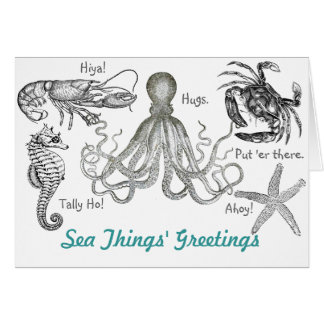 Sea Things' Greetings Card
