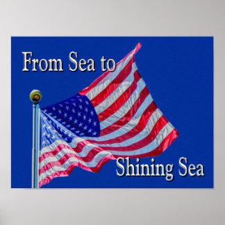 Sea to Shining Sea - Flag - art print