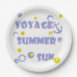 Sea, travel , summer 9 inch paper plate