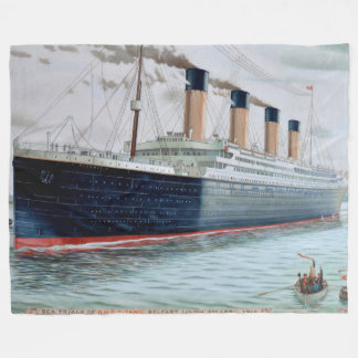 Sea Trials of RMS Titanic Fleece Blanket