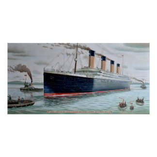 Sea Trials of RMS Titanic Poster