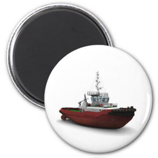 Sea tug 6 cm round magnet