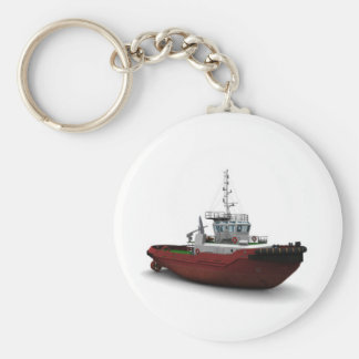Sea tug basic round button key ring