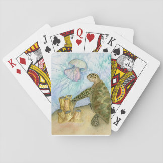 Sea Turtle and Jellyfish Playing Cards