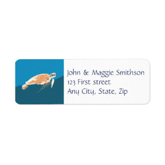 Sea Turtle Animal Custom Label