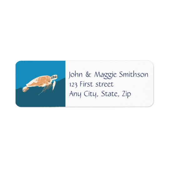 Sea Turtle Animal Custom Label Return Address Label
