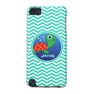 Sea Turtle Aqua Green Chevron iPod Touch (5th Generation) Case