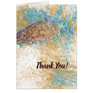 Sea Turtle Art Thank You Card