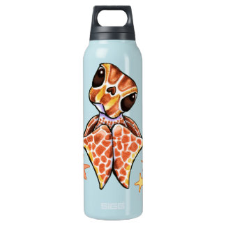 Sea Turtle Baby Brown Starfish Insulated Water Bottle