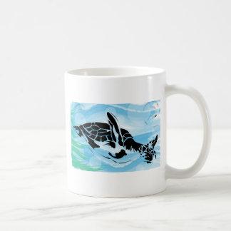 sea turtle basic white mug