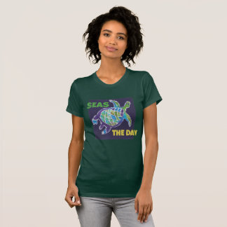 Sea Turtle Batik, by McCoy Forsythe T-Shirt
