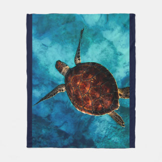 Sea Turtle Beauty Fleece Blanket