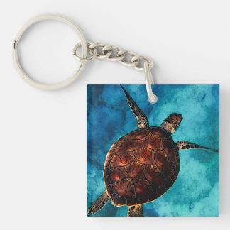 Sea Turtle Beauty Key Ring