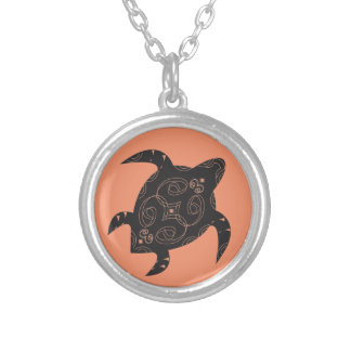 Sea Turtle Belly Silver Plated Necklace