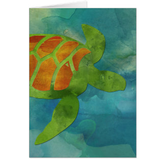 Sea Turtle Blank Notecard