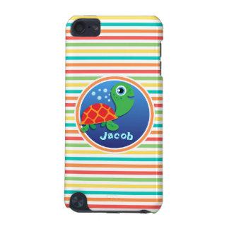 Sea Turtle Bright Rainbow Stripes iPod Touch (5th Generation) Case