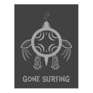 Sea Turtle Bubbles Postcard