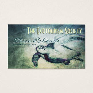Sea Turtle / Ecology Guides Business Card Template