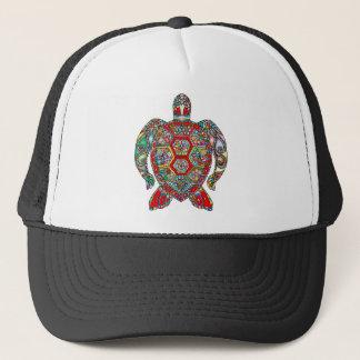 Sea Turtle Floral Flowers Decorative Ornamental Trucker Hat