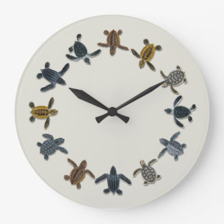 Sea Turtle Hatchling Wall Clock