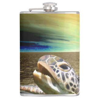 Sea turtle hip flask